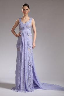 Mila Kunis Sheer Lavender Lace Evening Prom Dress At Oscar