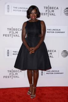 viola davis black princess dress custody premiere 2016 tribeca film festival