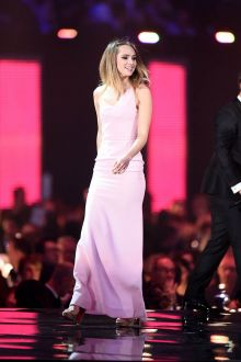 suki waterhouse light pink evening prom dress brit awards 2016 for sale