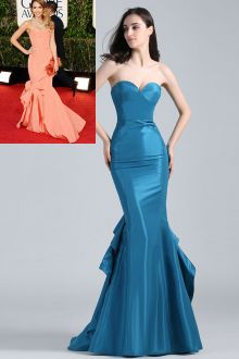 satin sweetheart mermaid celebrity dress golden globes