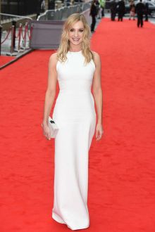 joanne nice sleeveless crew neck white celebrity evening dress bafta