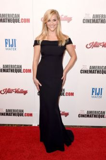 reese witherspoon classic black evening formal dress american cinematheque 2015