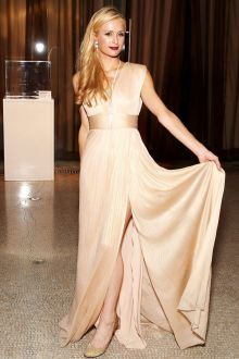 paris hilton elegant champagne sleeveless v neck celebrity dress unitas 2nd gala