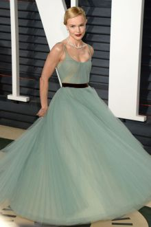 sage green tulle ball gown celebrity dress kate bosworth vanity fair oscar 2017