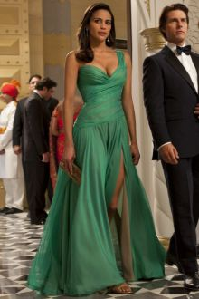 ghost protocol one shoulder sweetheart green celebrity homecoming prom dress