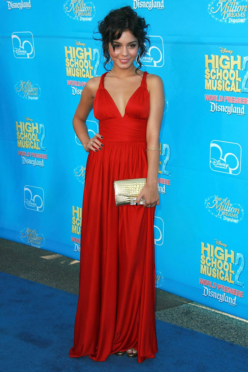 Vanessa Hudgens Party Dress High School Musical Red Satin Cheap ...