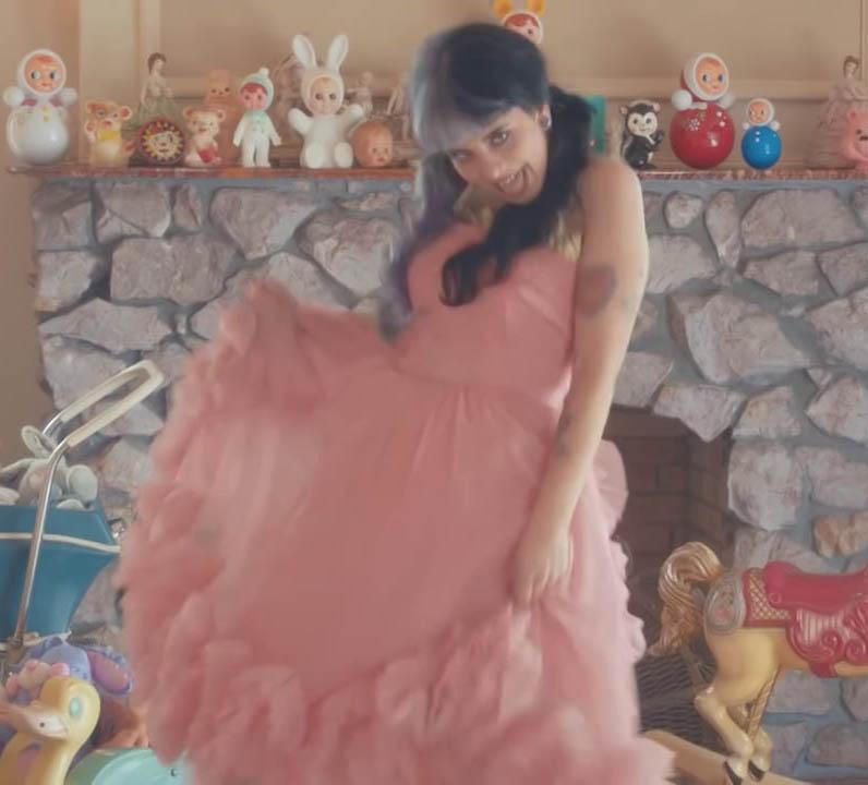 Melanie Martinez Pink Knee Length Sweet 16 Celebrity Dress