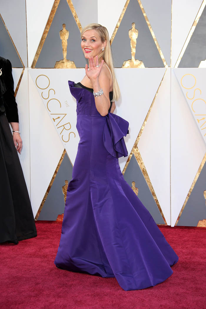 Reese witherspoon purple trumpet celebrity prom dress oscars 2016 red carpet starcelebritydresses - Red carpet oscar dresses ...
