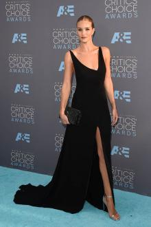 rosie huntington whiteley perfect black celebrity prom dress critic choice